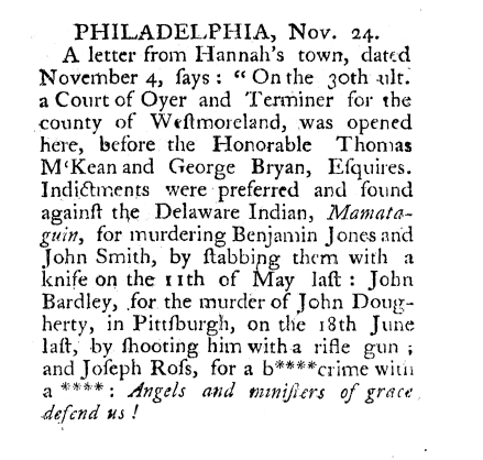 The Pennsylvania Packet, November 24, 1785