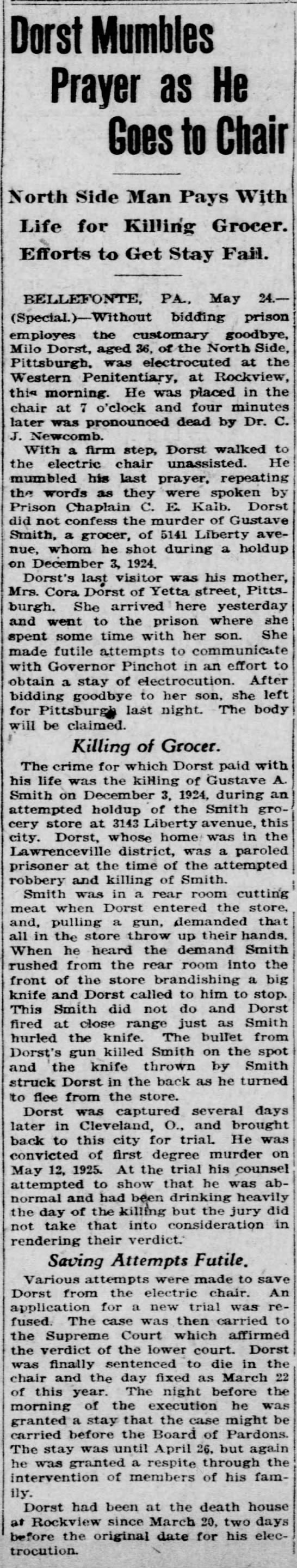 Pittsburgh Gazette, May 25, 1926