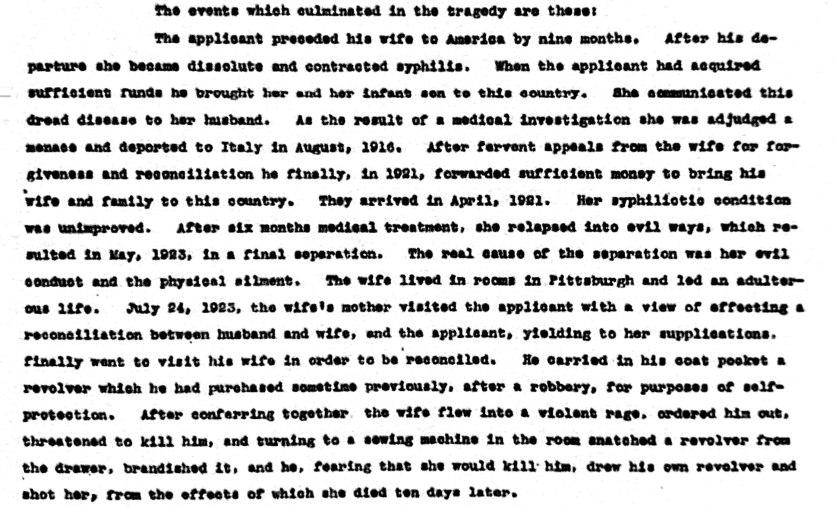 Recommendation of Pardon Board, January 21, 1925