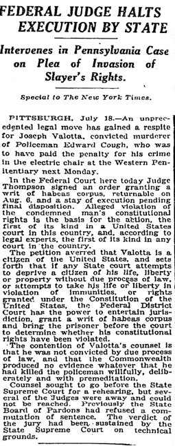 New York Times, July 19, 1924