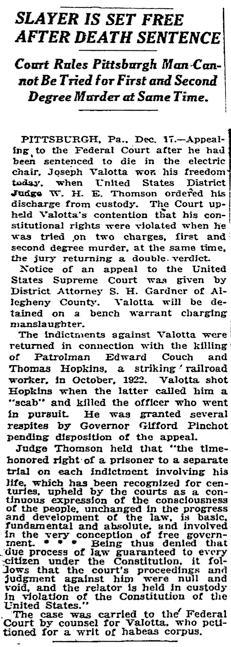 New York Times, December 18, 1924