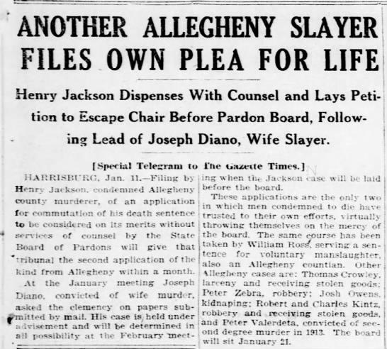 Pittsburgh Gazette Times, January 12, 1925